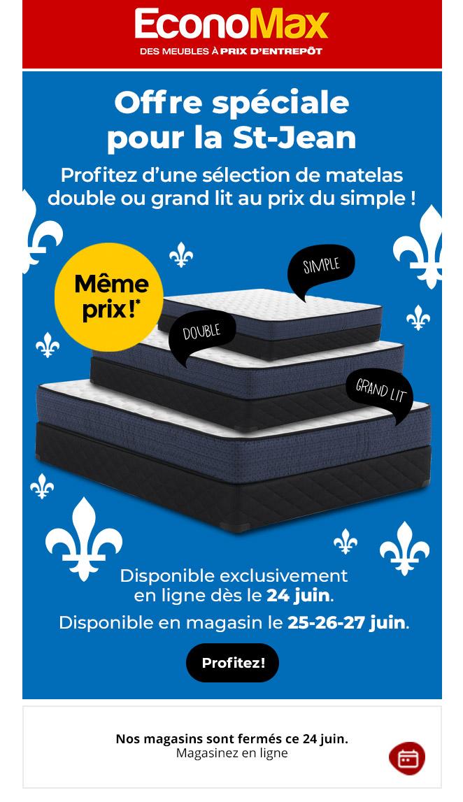 Promo Incroyable Sur Les Matelas Pour La St Jean !