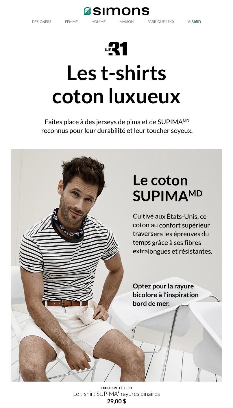 T Shirts Coton Supérieur à Collectionner