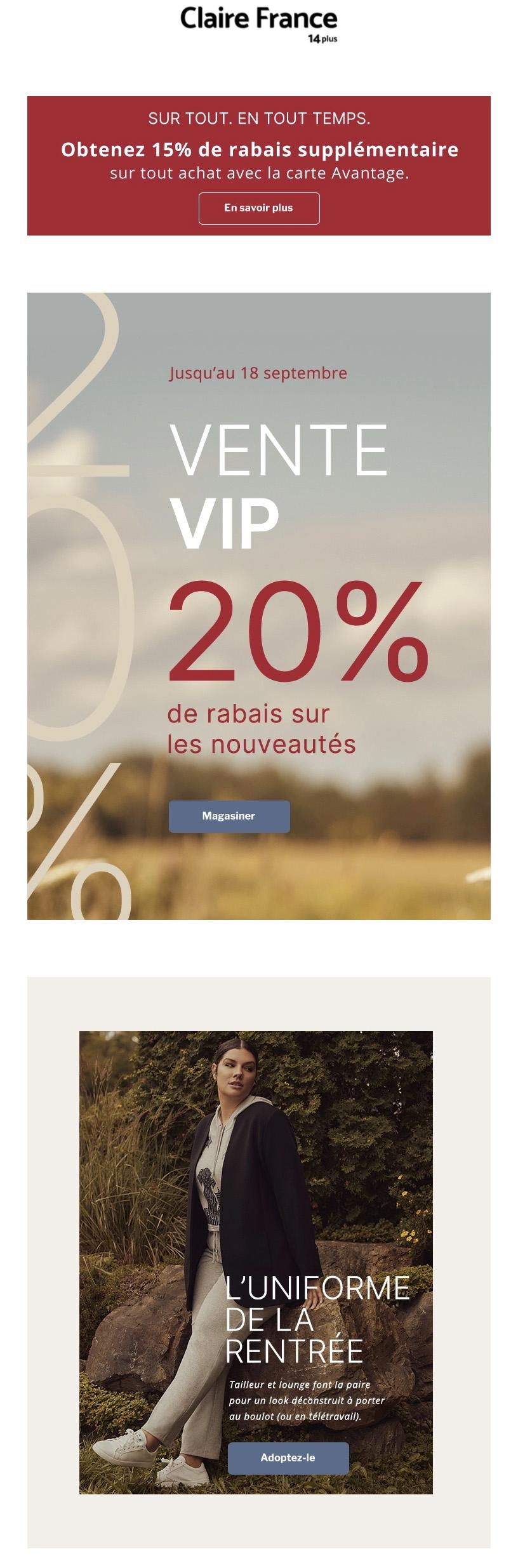 Vente Vip ! 20 % Sur Les Nouveautés