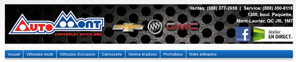Auto Mont Chevrolet Buick Gmc En Ligne
